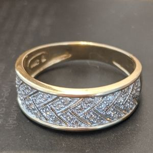 COPY - 14K Yellow Gold and Pave Diamond Ring
